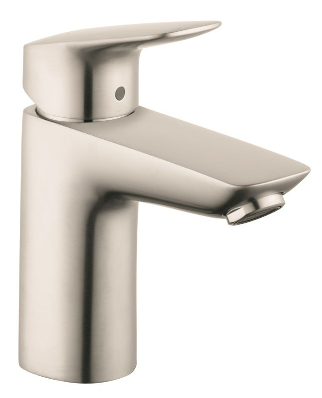 Hansgrohe 71100821 brushed nickel logis single hole bathroom faucet with ecoright and - Hansgrohe pop up drain ...