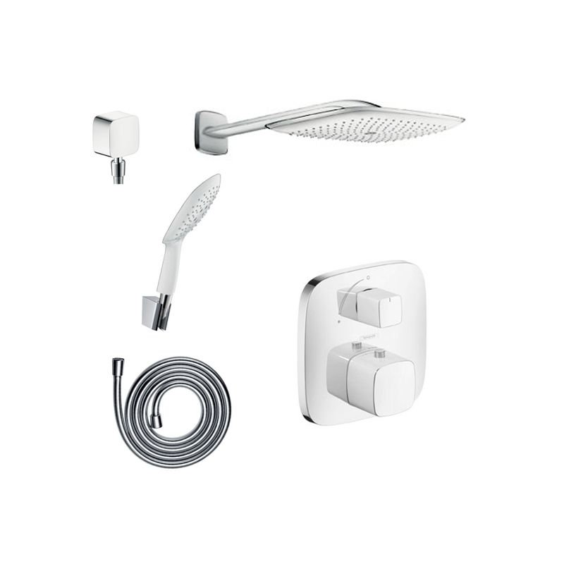 Hansgrohe chrome puravida shower faucet with thermostatic for Hansgrohe puravida