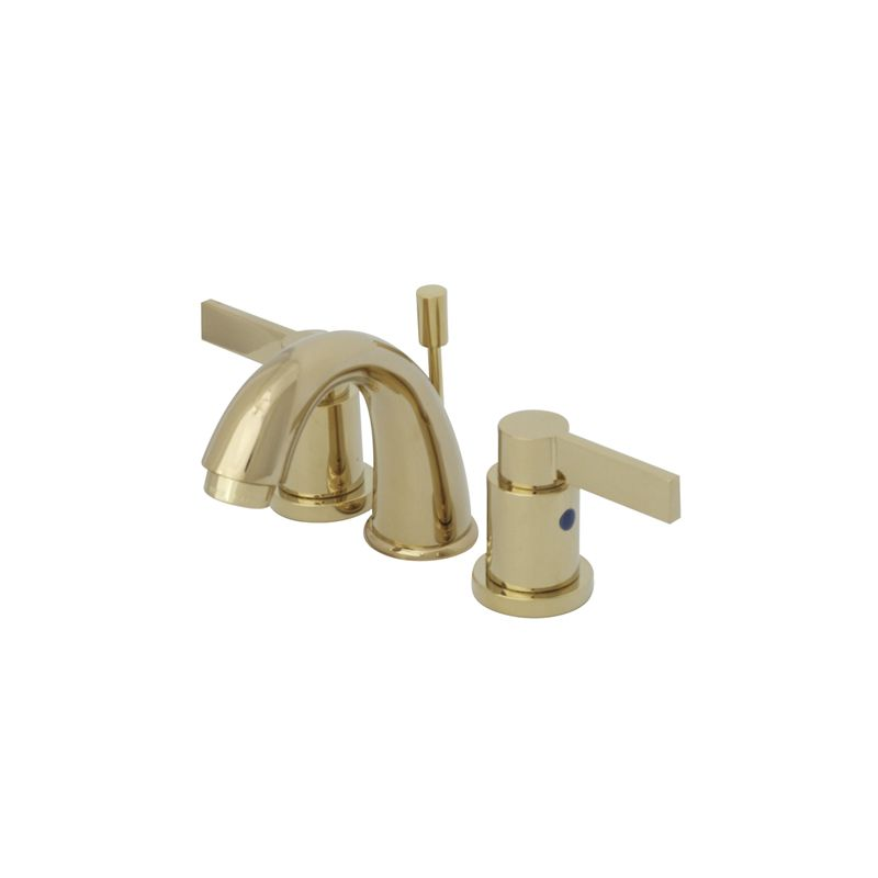 Brass 2 handle widespread watersense bathroom faucet drain included - Kingston Brass Kb8912ndl Polished Brass Nuvo Fusion