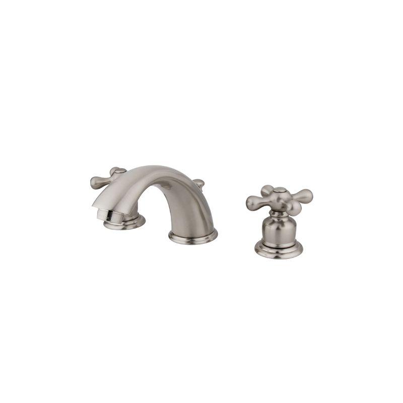Kingston Brass Kb978x Satin Nickel Victorian Widespread Bathroom Faucet With Pop Up Drain
