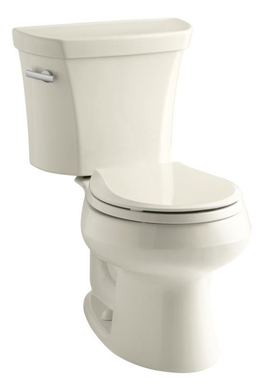 Kohler K 3977 47 Almond 1 6 Gpf Two Piece Round Toilet