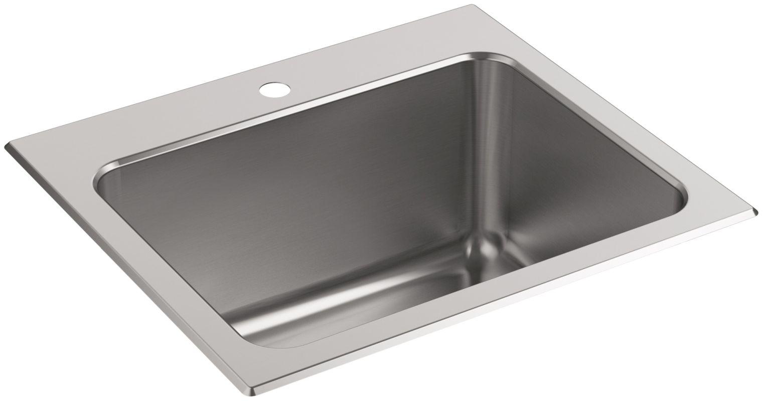 Kohler K 5798 1 Na Stainless Steel Ballad 25 Quot Single Basin