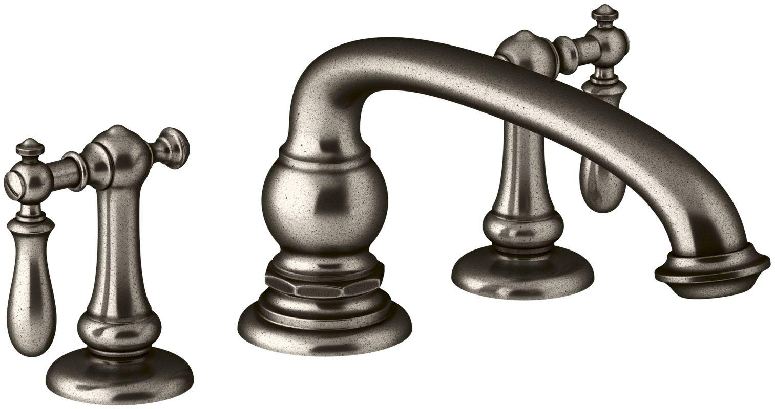 Kohler K T72778 9M CP Polished Chrome Artifacts Deck Mounted Roman Tub Faucet