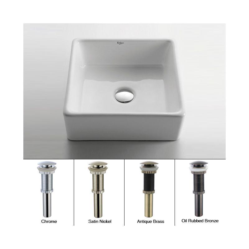 kraus kcv 120 orb oil rubbed bronze 15 ceramic vessel bathroom sink includes pop up drain. Black Bedroom Furniture Sets. Home Design Ideas