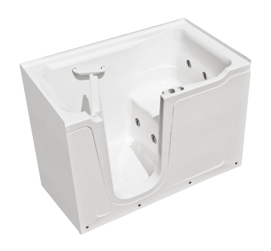 MediTub 3660LWHC White 60 X 36 Walk In Whirlpool Tub With 17 Quot