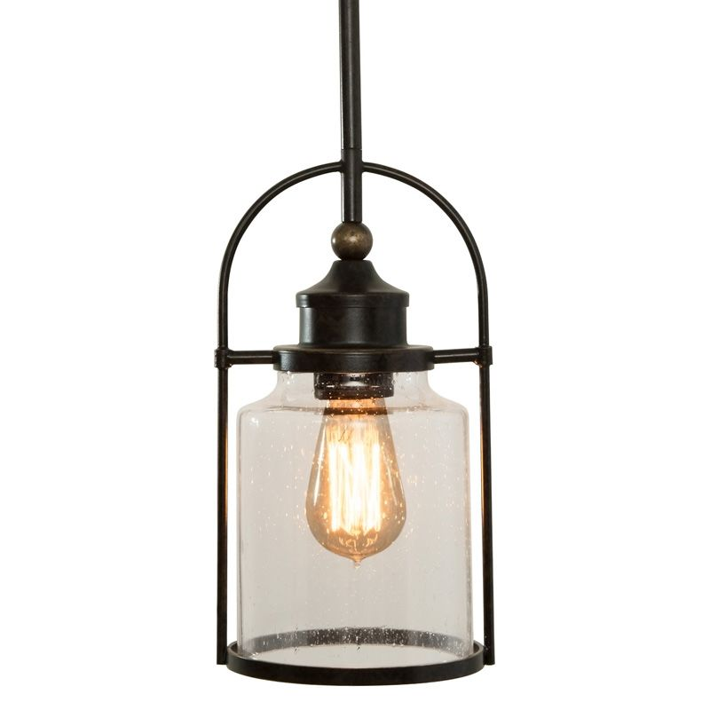 miseno tst2549b1 imperial bronze single light mini pendant with seedy cylinder glass shade. Black Bedroom Furniture Sets. Home Design Ideas