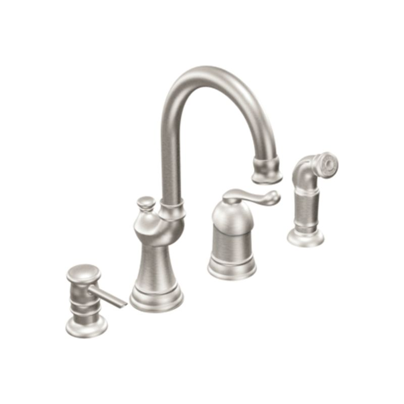 Kitchen Faucet Extension: Moen CA87002CSL Classic Stainless One-Handle High Arc Kitchen Faucet From The Muirfield