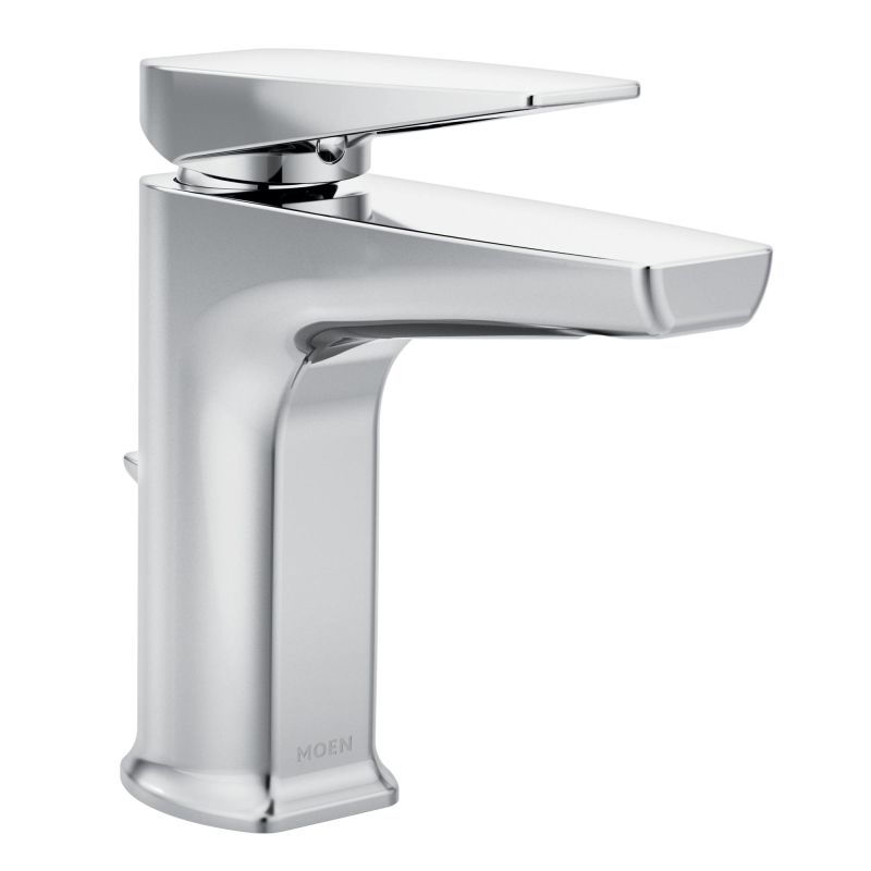 Moen S8000 Chrome Via Single Hole Bathroom Faucet With Metal Pop Up Drain Assembly