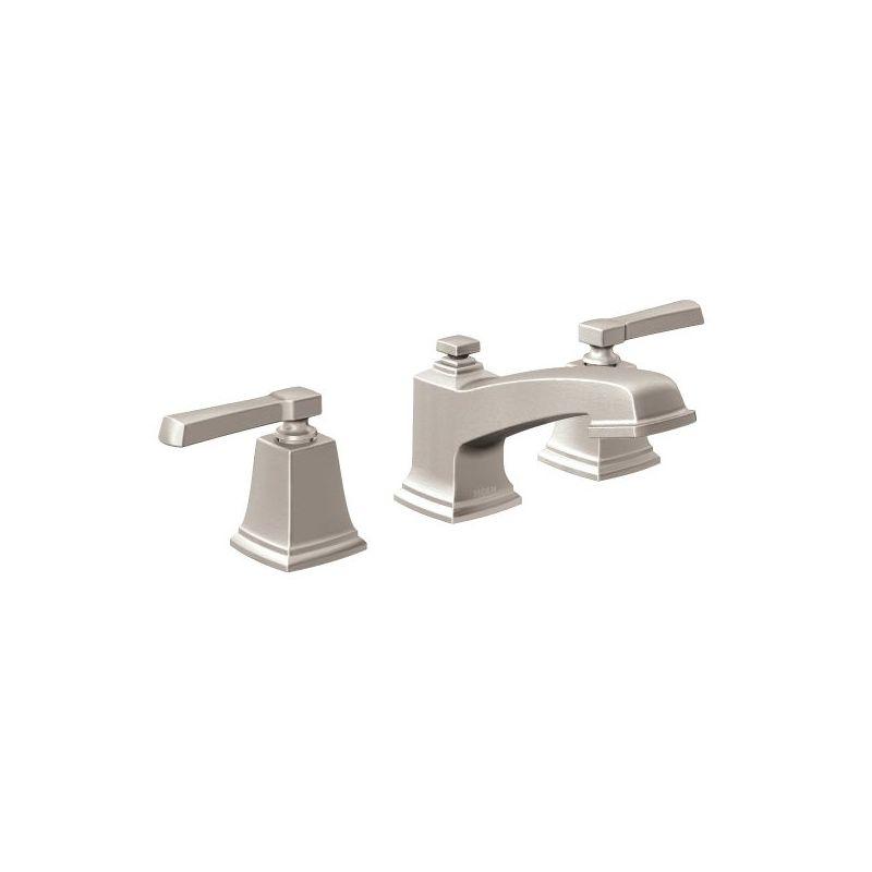 Moen T6220srn Spot Resist Brushed Nickel Boardwalk Widespread Bathroom Faucet With Metal Pop Up