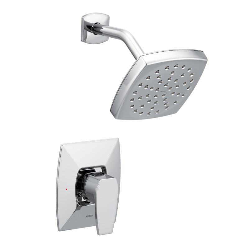 Moen ts8712ep chrome via shower trim package with single for Como cambiar las llaves dela regadera