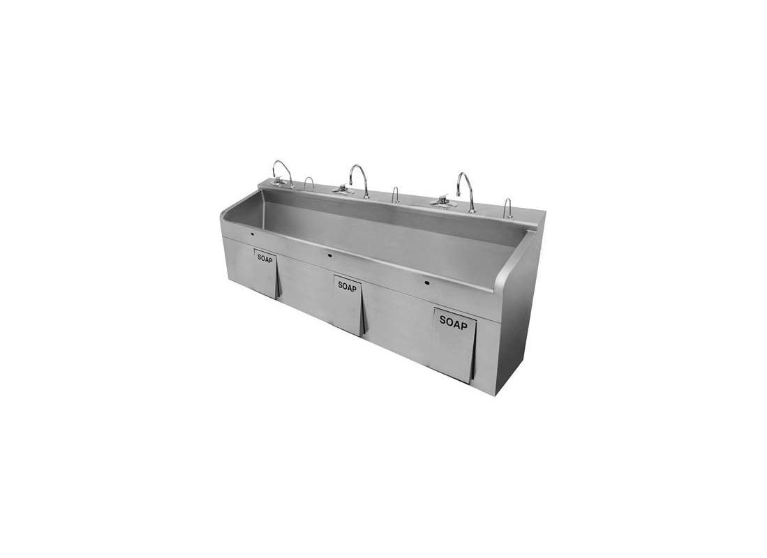 Sloan 3850224 N A Deluxe Triple Station Stainless Steel