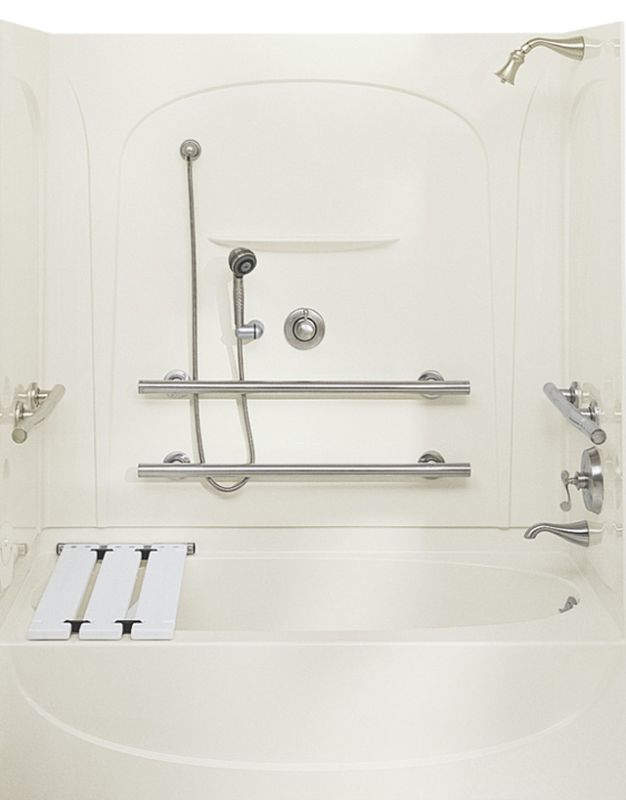 Sterling 71091112 0 White Acclaim 5 Foot Three Wall Alcove Soaking Tub With L
