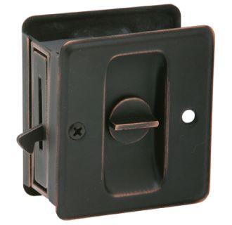 Schlage 991b716 Aged Bronze Ives Privacy Pocket Door Lock