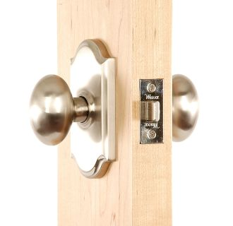 Julienne Series Knob Set in Satin Nickel Inside Angle View
