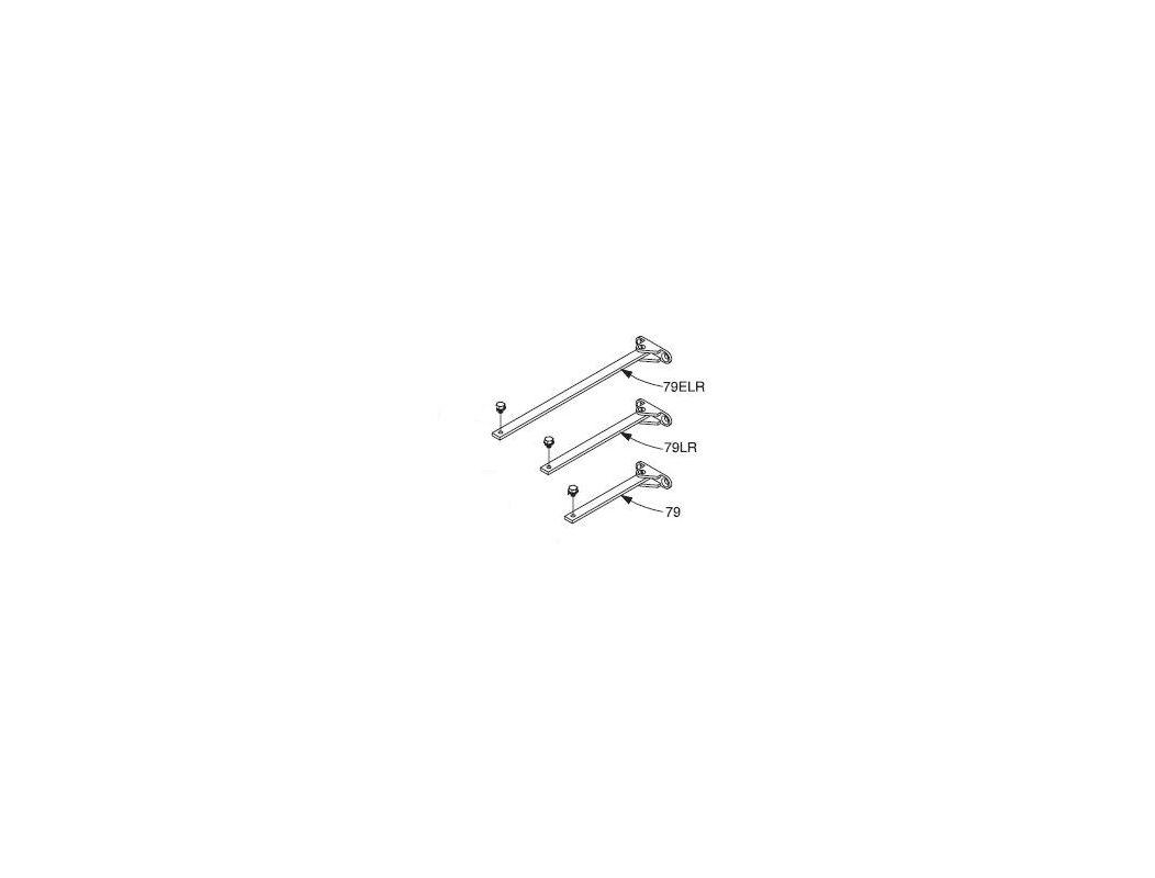 Lcn 404079 Aluminum Rod Amp Shoe For 4040 Series Door