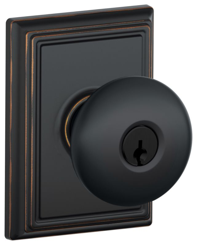Schlage F51aply716add Aged Bronze Keyed Entry Plymouth