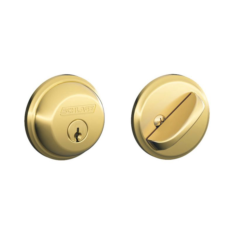 Schlage B60505 Lifetime Polished Brass Single Cylinder