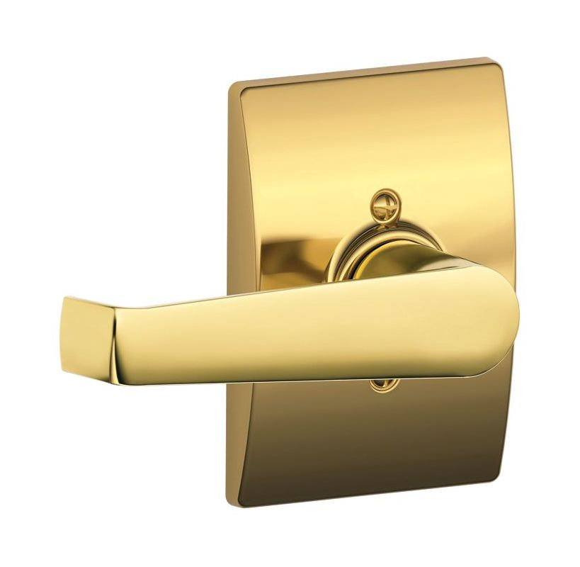 Schlage F170ela605cen Polished Brass Elan Single Dummy