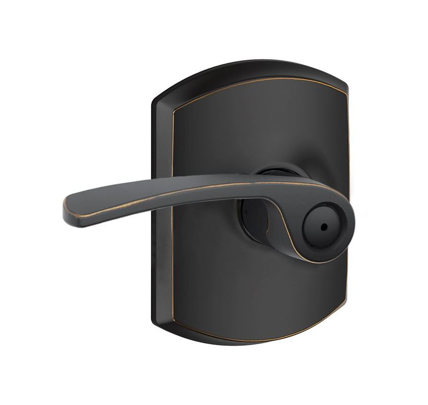 Schlage F40mer716grw Aged Bronze Merano Privacy Door Lever