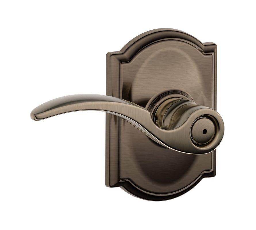 Schlage F40sta605cam Polished Brass Privacy St Annes Door