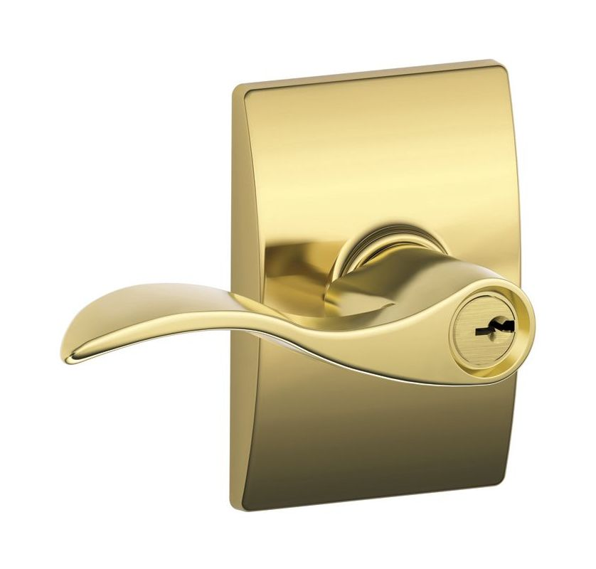 Schlage F51aacc505cen Lifetime Polished Brass Accent