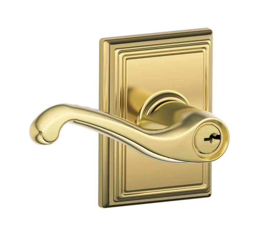 Schlage F51afla605add Polished Brass Flair Single Cylinder
