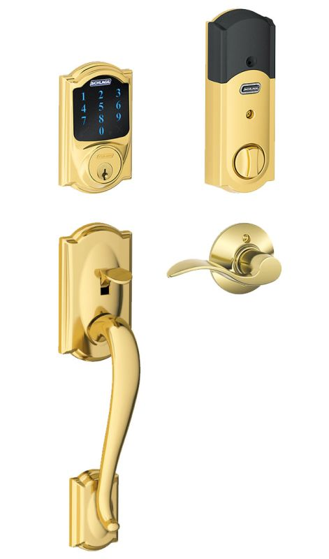 Schlage Fe469nxcam605accrh Polished Brass Connect Camelot