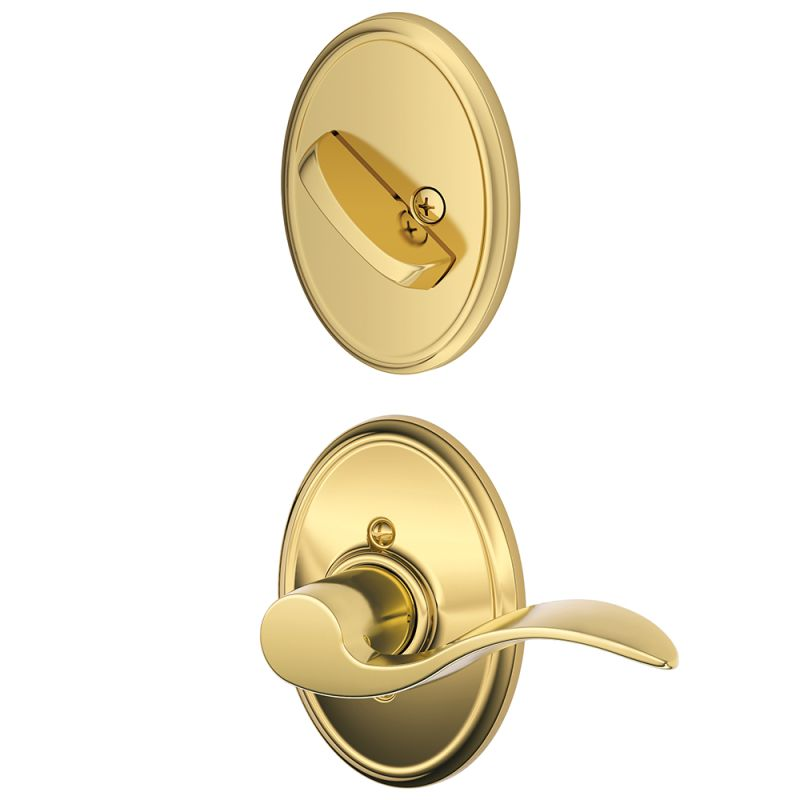 Schlage F59acc605wkflh Polished Brass Accent Left Handed
