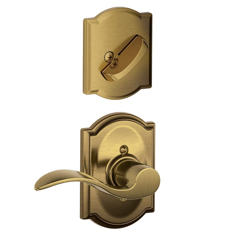 Schlage F59acc609camrh Antique Brass Accent Right Handed