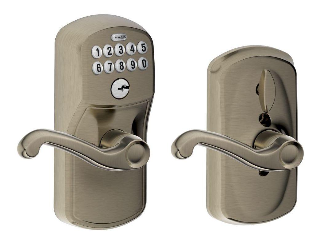 Schlage Fe595ply620fla Antique Pewter Flex Lock Keypad