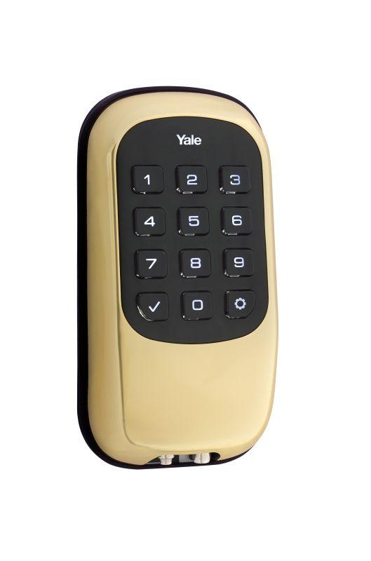 Yale Yrd110zw605 Polished Brass Keyless Electronic Push