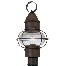"Designers Fountain 1766-RT 1 Light 10"" Onion Post Lantern from the Nantucket Collection"