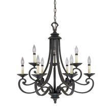 Designers Fountain 9039-NI 9 Light Candelabra Chandelier from the Barcelona Collection