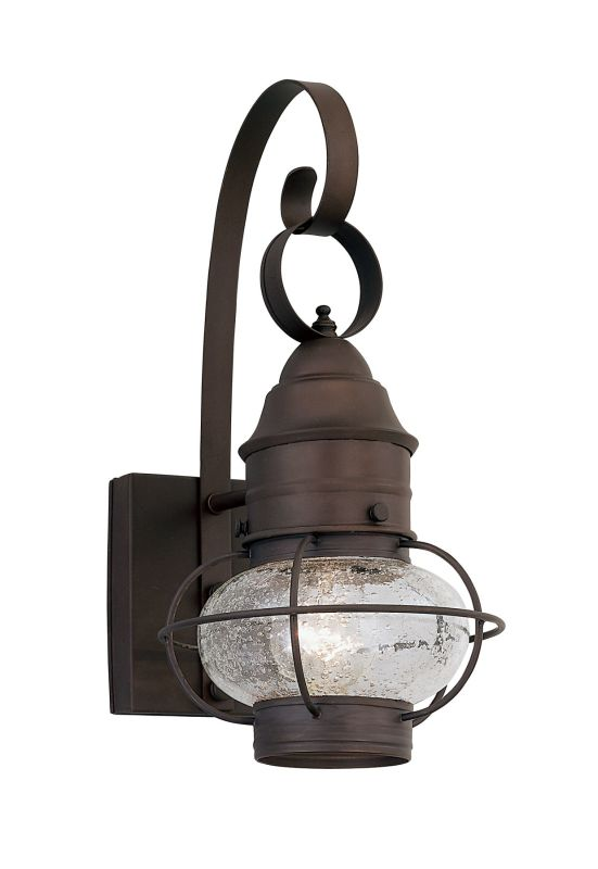 "Designers Fountain 1761-RT Rustique 1 Light Outdoor 10"" Onion Wall Lantern from the Nantucket Collection"