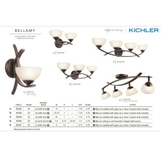 The Kichler Bellamy Collection from the Kichler Catalog.