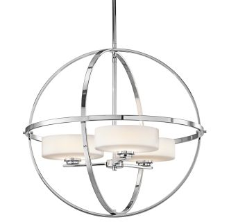 Kichler Ch Chrome Olsay  Wide Globe Style Shaded Chandelier Lightingdirect Com