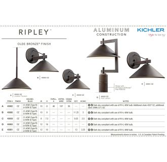 Kichler Ripley Outdoor Collection