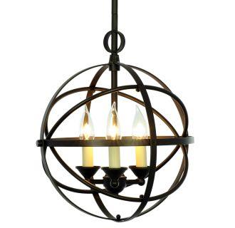 Miseno Sbuoz Oil Rubbed Bronze Three Light Cage Orb
