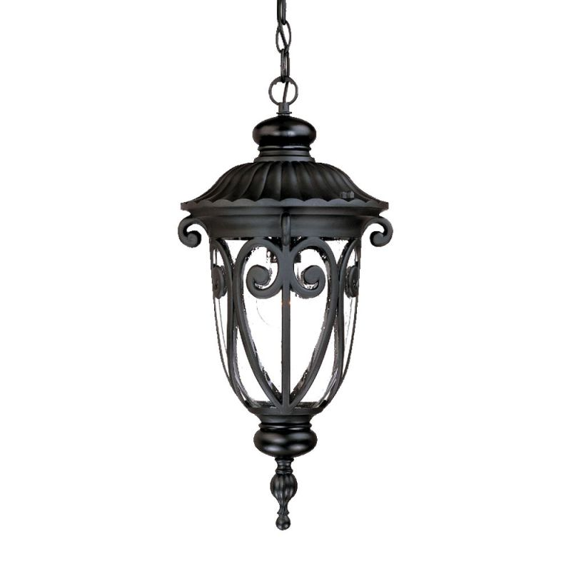acclaim lighting 2116bk matte black naples 1 light 20 5