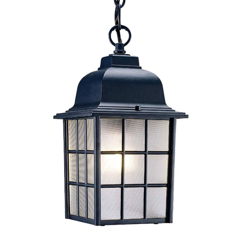 What Height Is Right To Hang A Pendant Light: Acclaim Lighting 5306BK Matte Black Nautica 1 Light 12