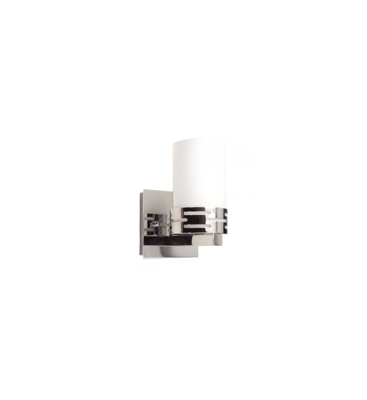 Can Vanity Lights Be Installed Upside Down : Artcraft Lighting AC6011 Chrome Seattle 1 Light Bathroom Sconce - LightingDirect.com