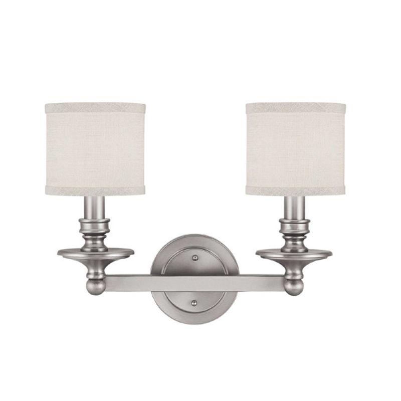 Capital Lighting 1237mn 451 Matte Nickel 2 Light 17 5 Wide Bathroom Vanity Light From The