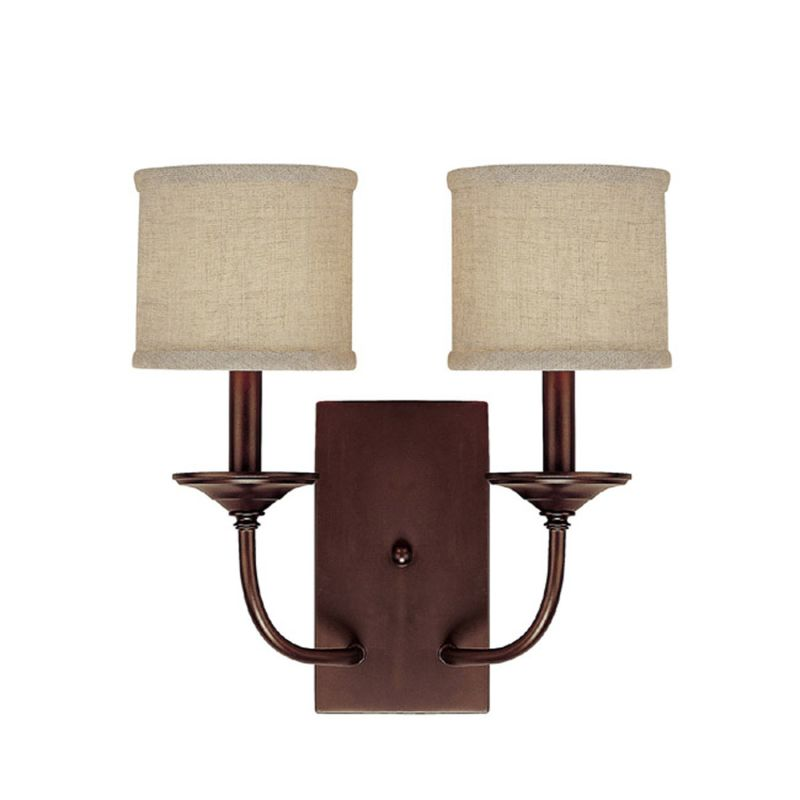 Wall Sconce Rough In Height : Capital Lighting 1982BB-468 Burnished Bronze Loft 2 Light Candle-Style Wall Sconce ...