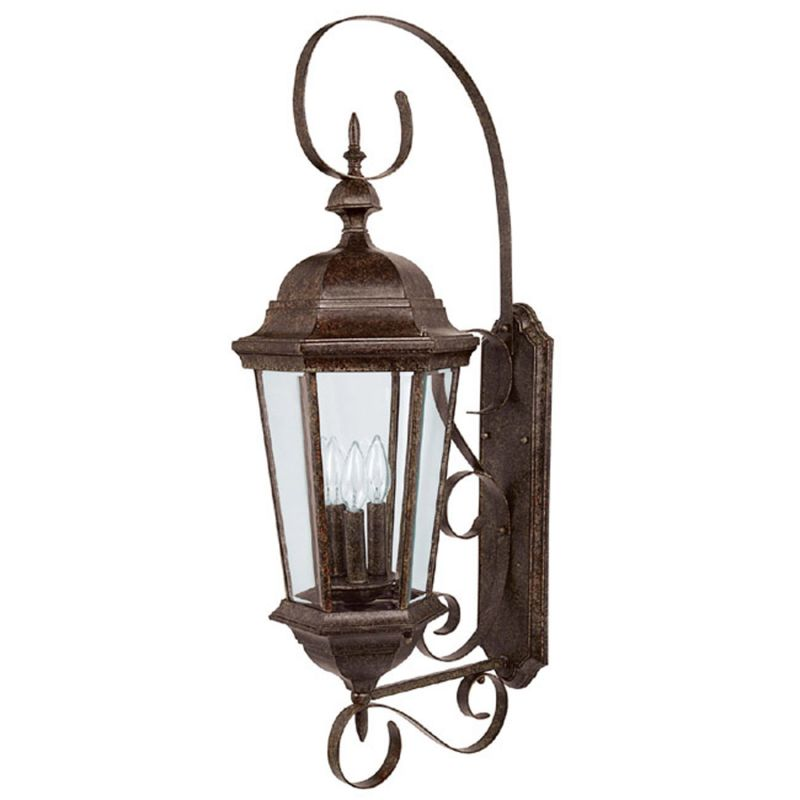 Capital Lighting 9723ts Tortoise Carriage House 3 Light Outdoor Wall Sconce