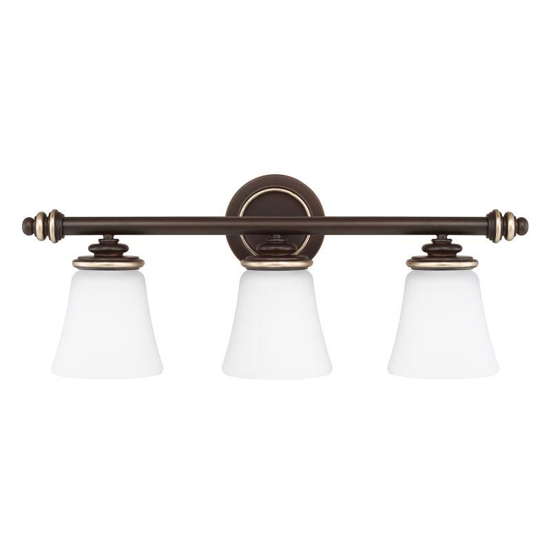 capital lighting 114931cz 336 champagne bronze asher 3 light bathroom. Black Bedroom Furniture Sets. Home Design Ideas