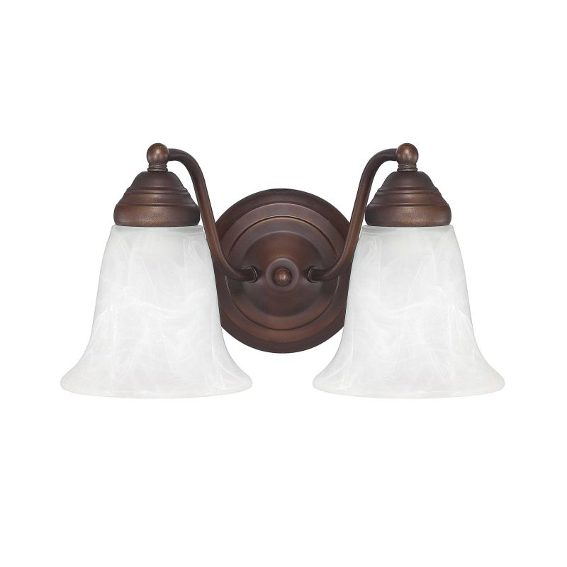 Mount Vanity Light Up Or Down : Capital Lighting 1362BB-117 Burnished Bronze 2 Light Bathroom Vanity Fixture - LightingDirect.com