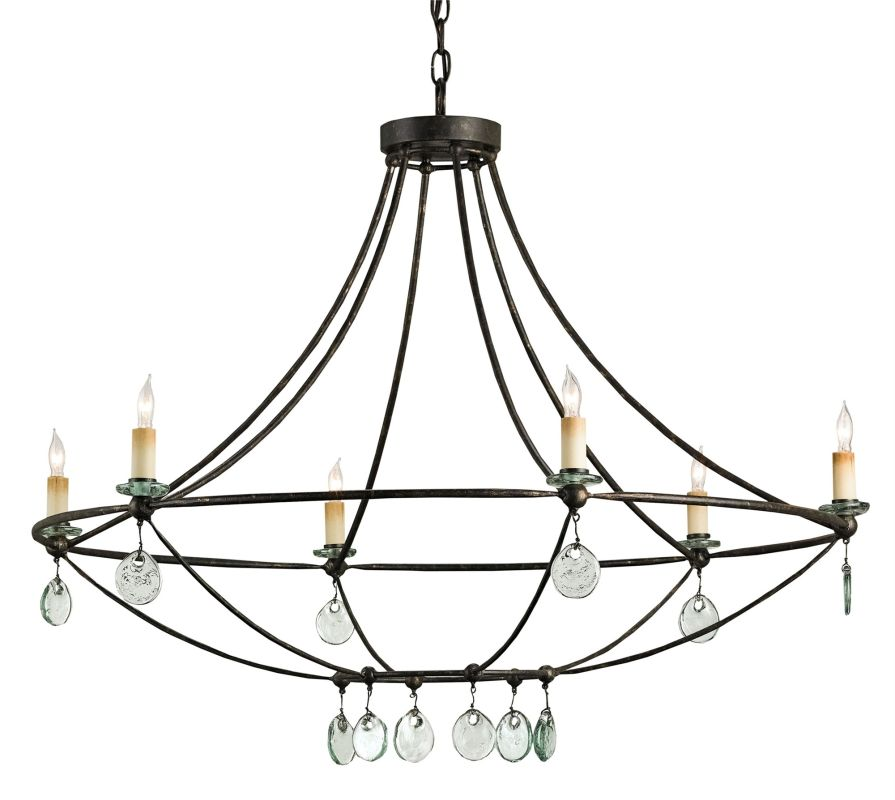 Currey And Company 9921 Mayfair Novella 6 Light Chandelier