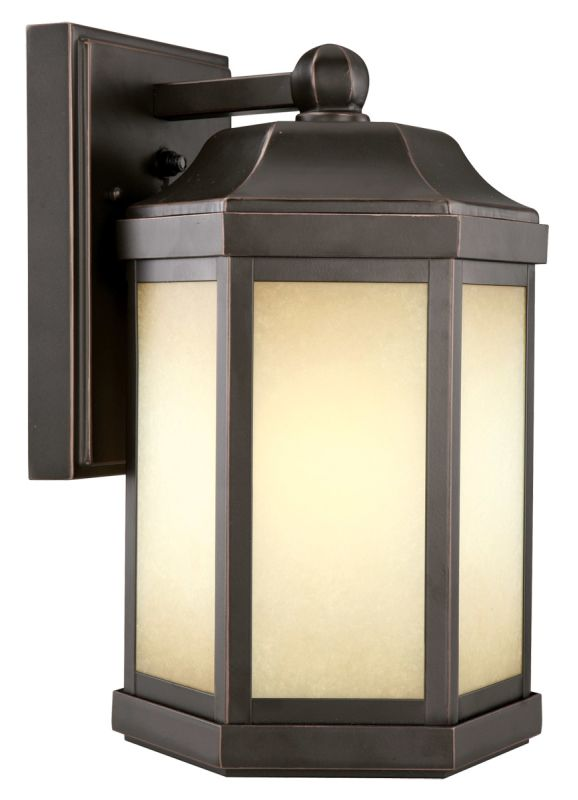 Design House 514992 Oil Rubbed Bronze Single Light Down Light Outdoor Wall Sconce with Photocell ...