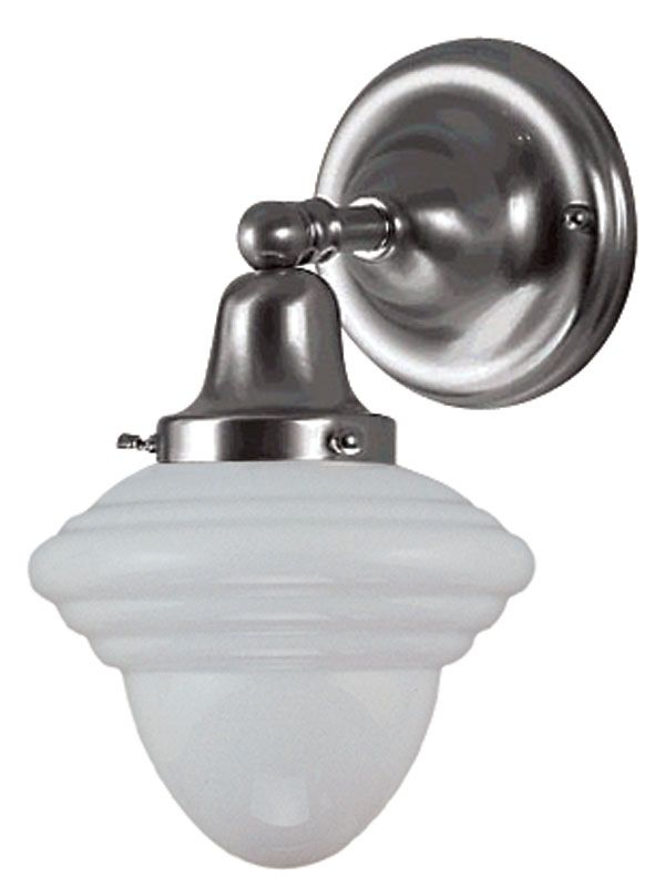 Schoolhouse Electric Wall Sconce : DVI Lighting DVP7501CH Chrome / Opal Schoolhouse 1 Light Wall Sconce - LightingDirect.com