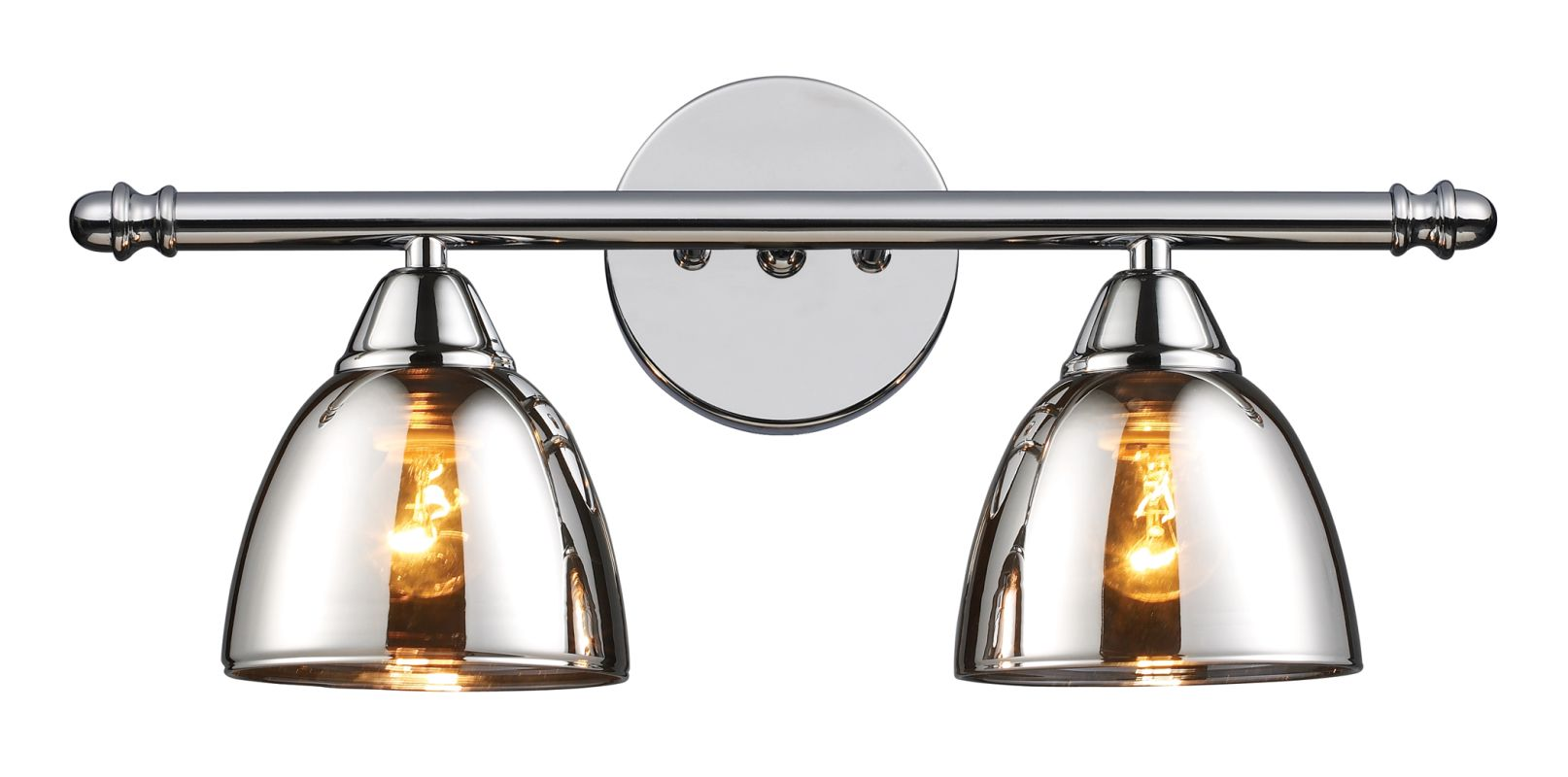 Mercury Glass Vanity Light Shade : Elk Lighting 10071/2 Polished Chrome Reflections 2 Light 18
